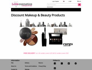 lovecosmetics.com screenshot