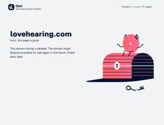 lovehearing.com screenshot
