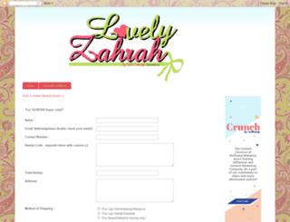 lovelyzahrah.blogspot.com screenshot