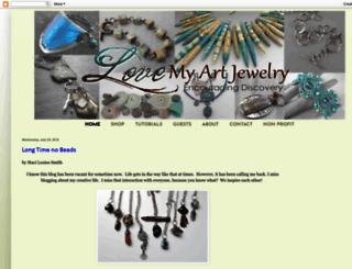 lovemyartjewelry.blogspot.com screenshot