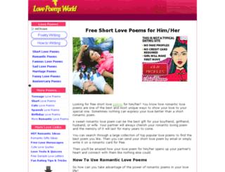 lovepoemsworld.com screenshot