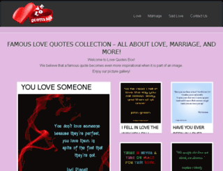 lovequotesbox.com screenshot