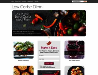 lowcarbediem.com screenshot