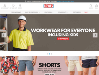 lowesmenswear.co.nz screenshot