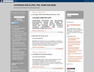 lowongankerjacpns-bumn.blogspot.com screenshot