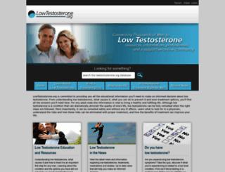 lowtestosterone.org screenshot