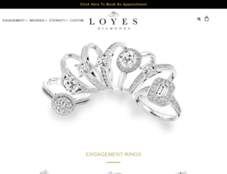 loyesdiamonds.ie screenshot