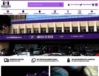 lpminerais.com.br screenshot