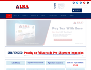 lra.gov.lr screenshot