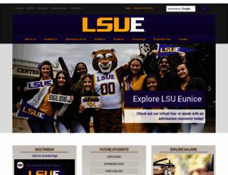 lsue.edu screenshot