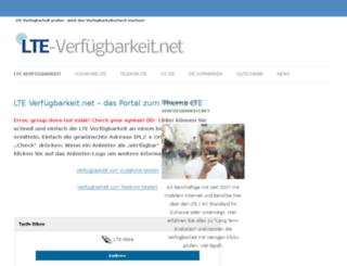 lte-verfuegbarkeit.net screenshot