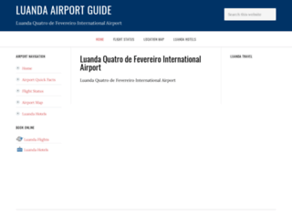 luandaairport.com screenshot