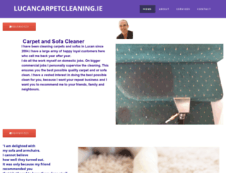 lucancarpetcleaning.ie screenshot