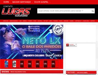 lucasgravacoes.com screenshot