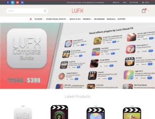 lucavisualfx.com screenshot