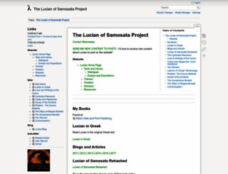 lucianofsamosata.info screenshot