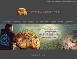 lucidityartifacts.com screenshot