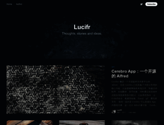 lucifr.com screenshot