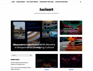 lucisart.com screenshot