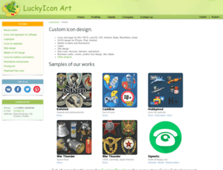 luckyicon.com screenshot