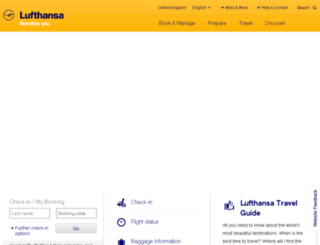 lufthansa.co.uk screenshot