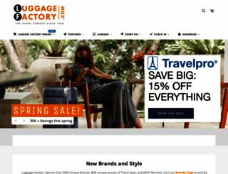 luggagefactory.com screenshot