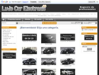 lujocarelectronic.es screenshot