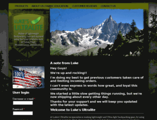 lukesultralite.com screenshot