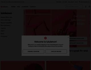 lululemon.co.uk screenshot