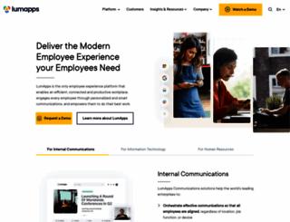 lumapps.com screenshot
