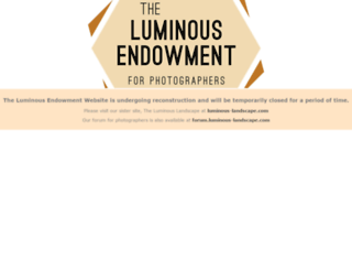 luminous-endowment.org screenshot