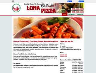 lunapizzafredericton.com screenshot