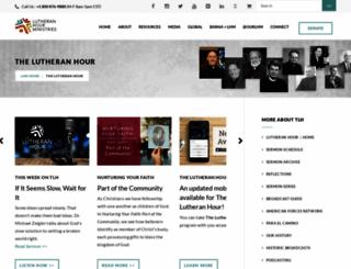 lutheranhour.org screenshot