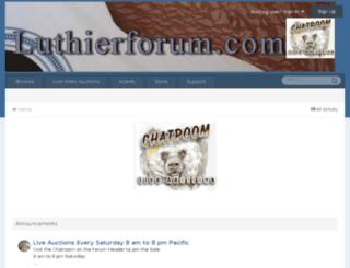 luthierforum.com screenshot