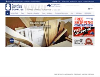 luthierssupplies.com.au screenshot