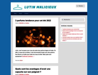 lutinmalicieux.com screenshot