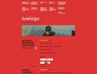 luwingu.wordpress.com screenshot