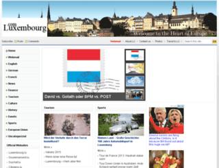 luxembourg.com screenshot