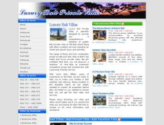 luxurybaliprivatevillas.com screenshot