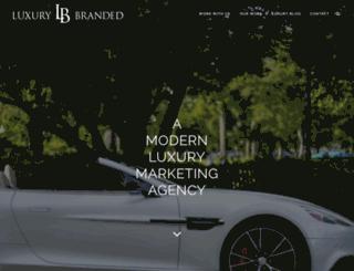 luxurybranded.com screenshot