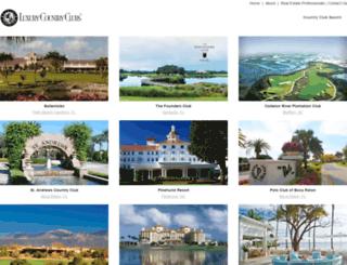 luxurycountryclubs.com screenshot