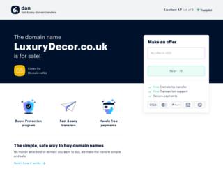 luxurydecor.co.uk screenshot