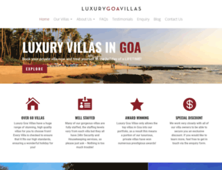 luxurygoavillas.com screenshot