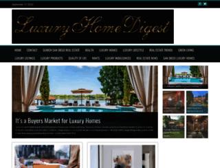 luxuryhomedigest.com screenshot