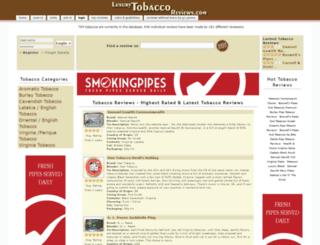 luxurytobaccoreviews.com screenshot