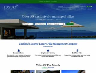 luxuryvillasandhomes.com screenshot