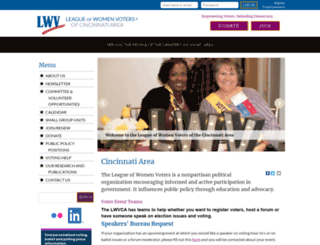 lwvcincinnati.org screenshot