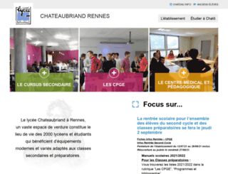 lycee-chateaubriand.fr screenshot