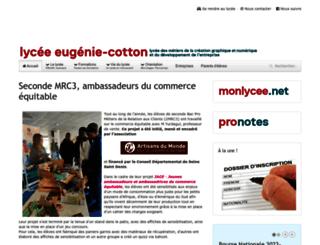 lyceecotton.net screenshot