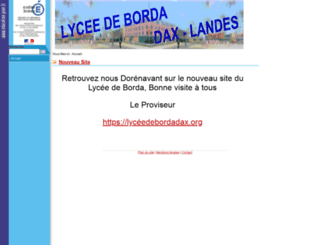 lyceedeborda.org screenshot